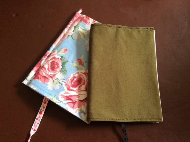 How To Make A Book Cover Out Of Fabric : How to make a fabric book cover dotty bobbin